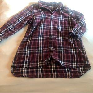 Boohoo plaid shirt dress